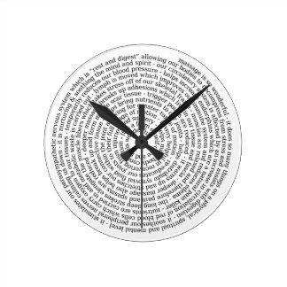 Reloj para el terapeuta del masaje