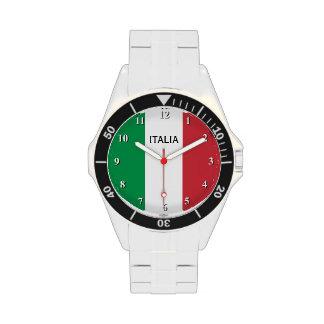 Reloj para los hombres con la bandera de Italia