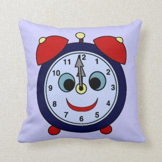 Reloj para los niños cojín