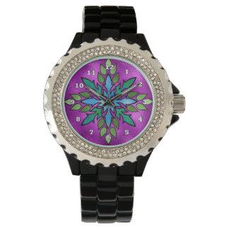 Reloj para mujer del falso vitral