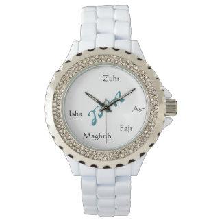 Reloj para mujer del rinoceronte blanco de la
