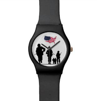 Reloj patriótico americano