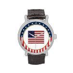 Reloj patriótico de la bandera americana