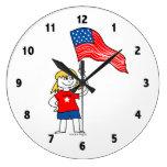Reloj patriótico de los chicas