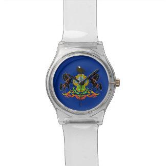 Reloj patriótico de los niños con la bandera de