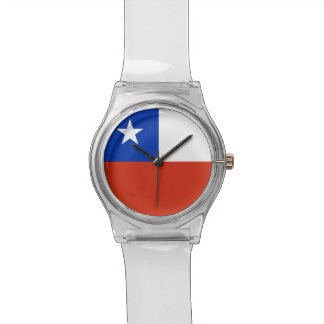 Reloj patriótico de los niños con la bandera de Ch