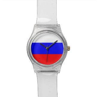 Reloj patriótico de los niños con la bandera de Ru