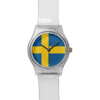 Reloj patriótico de los niños con la bandera de Su