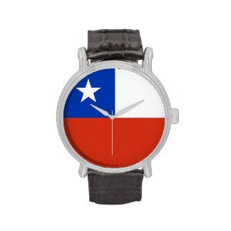 Reloj patriótico, especial con la bandera de Chile