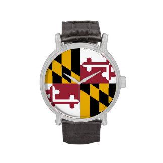 Reloj patriótico, especial con la bandera de Maryl