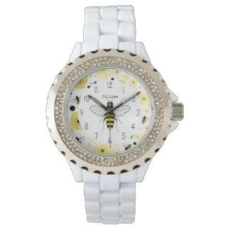 Reloj personalizado abeja de la miel