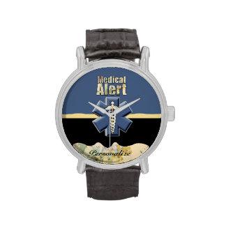 Reloj personalizado alarma médica