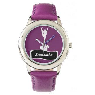 Reloj personalizado animadora púrpura