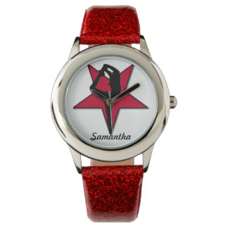Reloj personalizado animadora roja