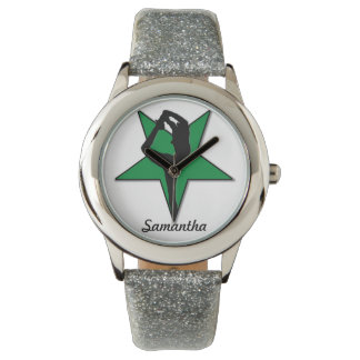 Reloj personalizado animadora verde