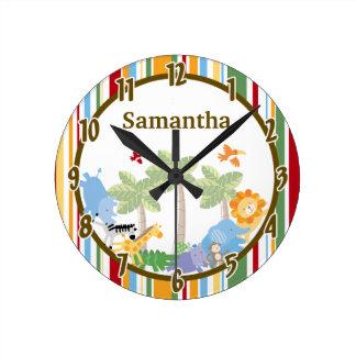 Reloj personalizado animal del parque zoológico de