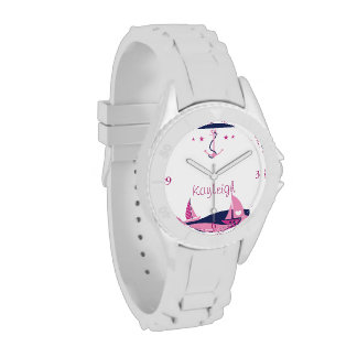 Reloj personalizado chica náutico