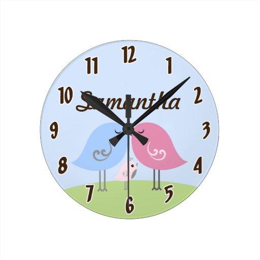 Reloj personalizado chirrido del bebé del papá de