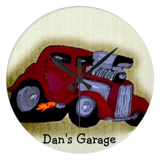 Reloj personalizado de la caricatura del coche de