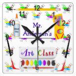 Reloj personalizado de la clase de arte de los