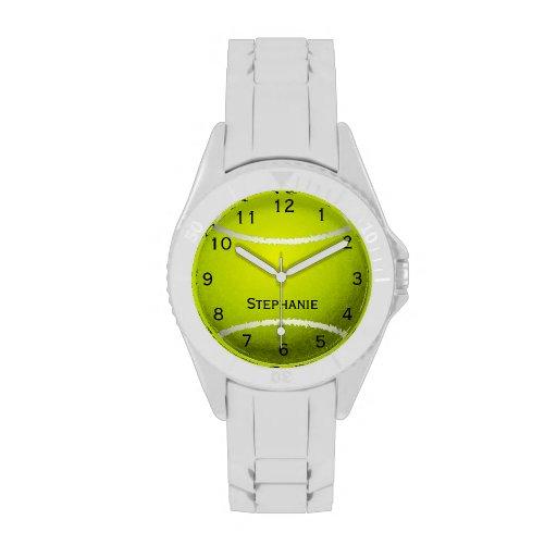 Reloj personalizado de la pelota de tenis