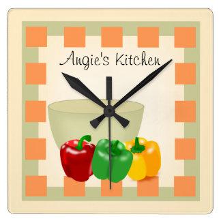 Reloj personalizado de la receta de la cocina - Ve