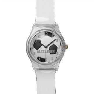 Reloj personalizado de los deportes del balón de f