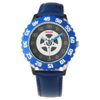 Reloj personalizado de los niños con el neumático