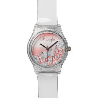 Reloj personalizado del amor