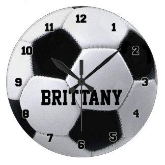 Reloj personalizado del balón de fútbol