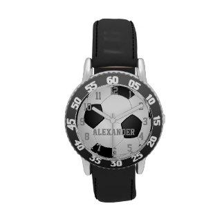 Reloj personalizado del balón de fútbol de los
