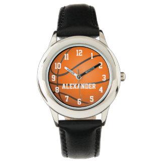 Reloj personalizado del baloncesto de los niños
