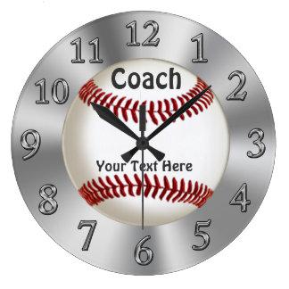 Reloj personalizado del béisbol para los coches