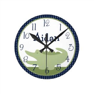 Reloj personalizado del cocodrilo de Nantucket