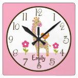 Reloj personalizado del cuarto de niños de la jira