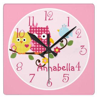 """Reloj personalizado del cuarto de niños """"de los bú"""