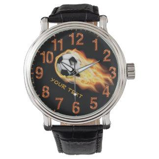 Reloj PERSONALIZADO del fútbol con SU TEXTO