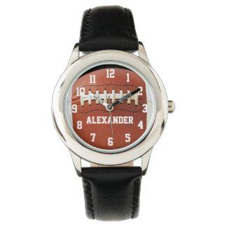 Reloj personalizado del fútbol de los muchachos de