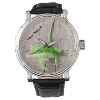 Reloj personalizado del Gecko