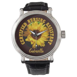 Reloj personalizado del girasol de C.N.A