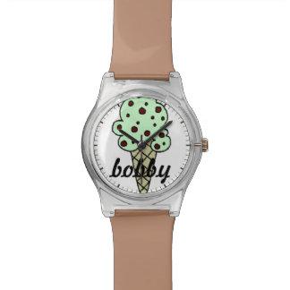 Reloj personalizado del helado del microprocesador