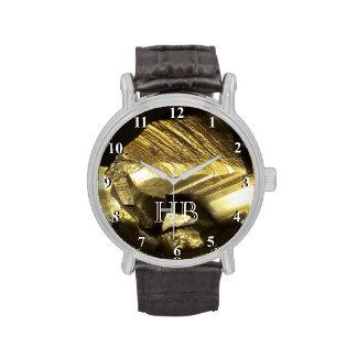 Reloj personalizado del monograma para la pepita