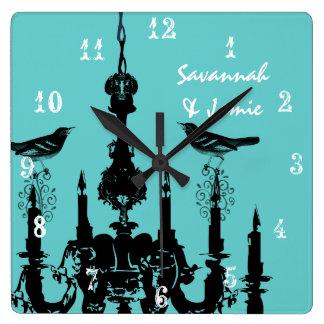 Reloj personalizado del pájaro de la lámpara del