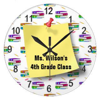 Reloj personalizado del papel del lápiz de los