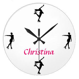 Reloj personalizado del patinaje artístico