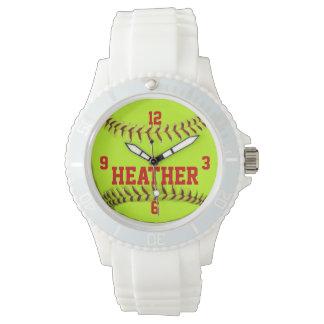 Reloj personalizado del softball