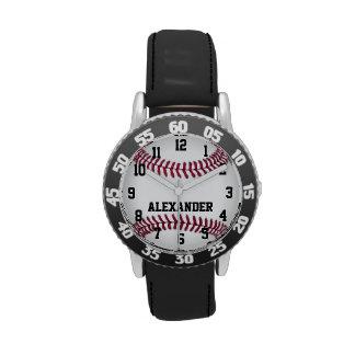 Reloj personalizado del softball del béisbol de lo