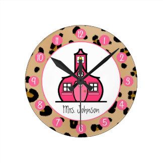 Reloj personalizado estampado leopardo para los pr