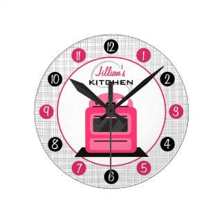 Reloj personalizado estufa retra de la cocina de l