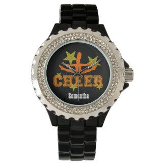 Reloj personalizado gimnasta de la animadora